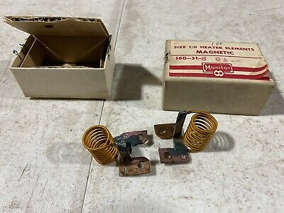 Lot Of Two Monitor Products Size 10 Heater Elements Magnetic 160-31-3.0a Nos