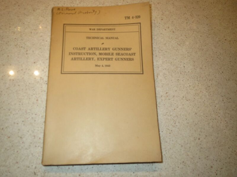 TM 4--320, Coast Artillery Instruction, 1942