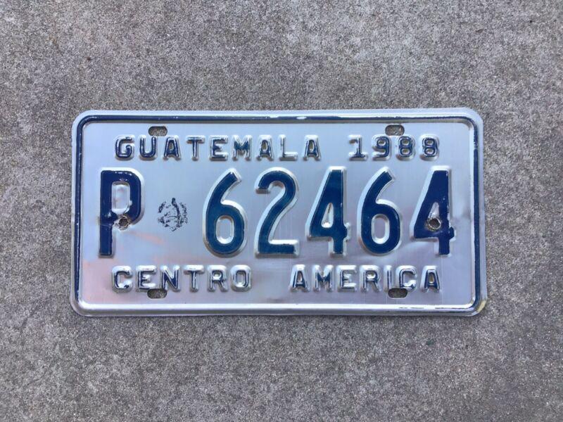 1988 - GUATEMALA LICENSE PLATE - CENTRAL AMERICA