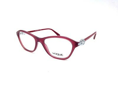 $225 VOGUE WOMENS RED EYEGLASSES FRAMES GLASSES OPTICAL EYE LENSES VO 2910-B
