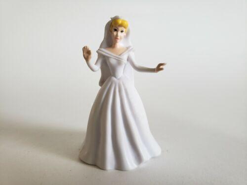 "Disney Cinderella White Dress 3"" Wedding Gown PVC Princess Figure Cake Topper"