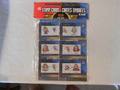 NHL STAMP CARDS 50th ALL STAR GAME SET OF 6 SERIES No. 1 LIMITED EDITION 2000 (2000 Nhl All Star Game)