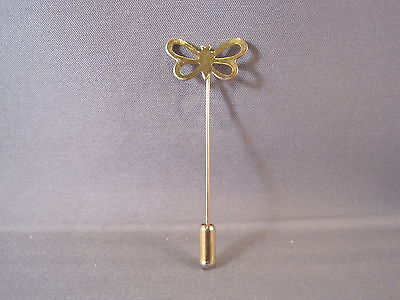 Simple Vintage Gold-Tone BUTTERFLY Stick Pin / Hat Pin / Brooch