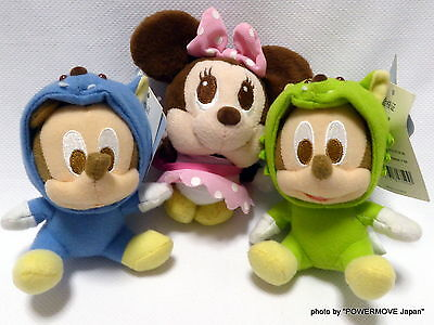 Used Disney Baby Costume Play Plush Toys Doll Set of 3 Mickey Minney Mouse 5.0