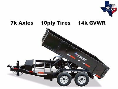 Brand New Texas Pride 7 X 12 Bumper Pull Dump Trailer 14k Gvwr