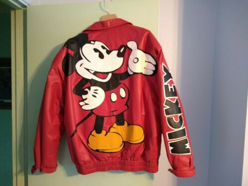 Vintage Maziar Leather Gallery Mickey Mouse Jacket Men