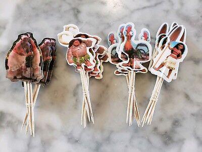 Disney Moana Maui Cupcake Toppers Picks 24pcs Kids Birthday Party Supplies](Disney Cupcake Picks)