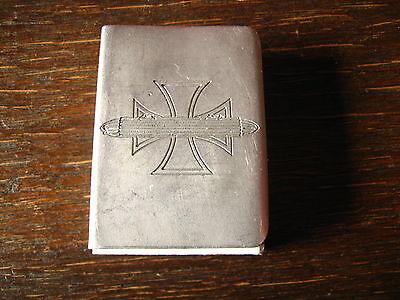Zeppelin 5 Zigarre Streichholzschachtelhülle Hülle für Streichhölzer WW1 EK