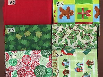 Christmas Snowflakes (Christmas Holly Snowflakes Presents Trees Fat Quarters)