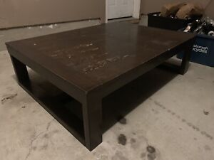 Large Wood Coffee table that needs refinishing!