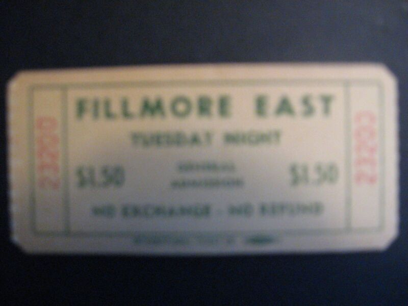 Full Fillmore East (Tuesday night) ticket