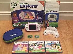 Pink Console Leapster Explorer Rose (Video Game)