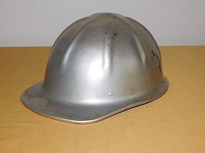 Vintage Construction Pulmosan Silver Metal Hard Hat