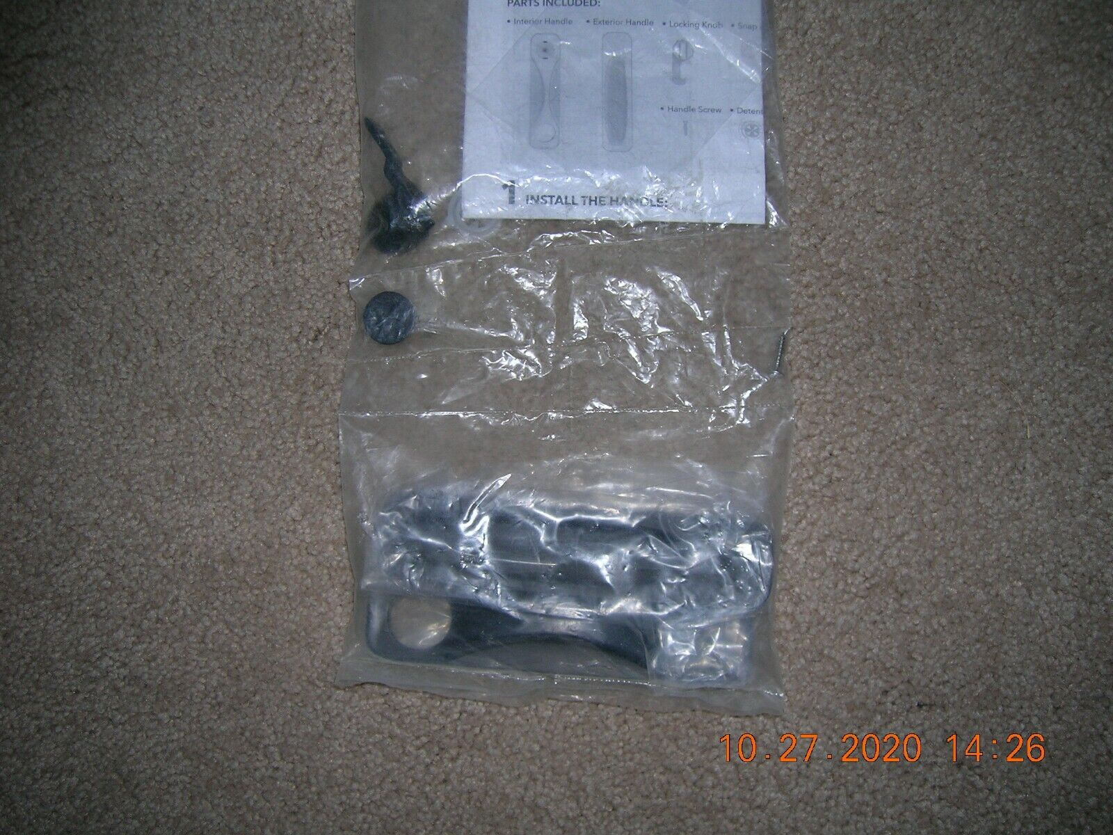 )) Sliding screen door handle Oil Rubbed  New Sealed  03WS-B