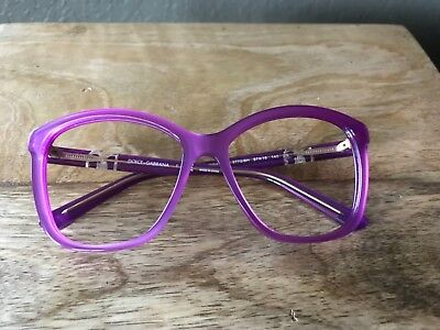 Dolce Gabbana Prescription Glasses without the Lense in Violet Purple