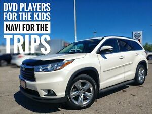 2015 Toyota Highlander Limited DVD Navi Leather  FREE Delivery