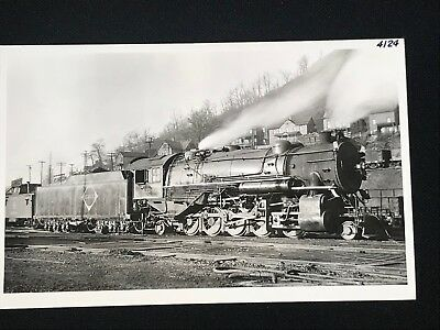 (RPPC Real Photo Postcard Erie Railroad No. 4124 R2 Train Locomotive Port Jervis)