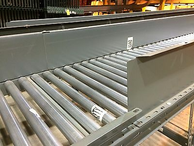 "28"" Buschman Gravity Roller Conveyor 1.9"" on 3"" Centers 10' Long Many Available!"