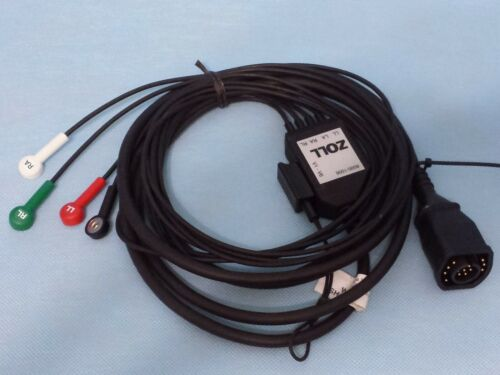 Zoll E-Series AHA 12 Lead Patient Cable ECG Limb Lead Trunk Cable 8000-1006