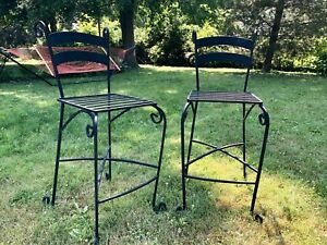 Iron bistro chairs