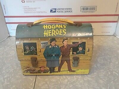 Hard to find Vintage Hogan's Heroes 1966 Dome Metal Lunchbox Aladdin