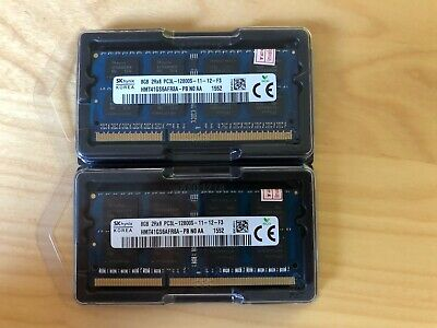 HYNIX 2x 8GB 16GB DDR3L RAM 1600 Mhz f. Apple iMac MacBook Pro mac mini Speicher