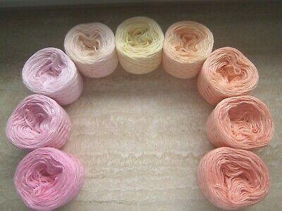 100g Farbverlauf Mohair Wolle ANGORA PRENSES Rosa Grau 40/% Mohair 550m 100g