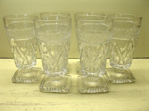"Vintage Imperial Glass Crystal Cape Cod Juice Glasses 5 1/4"" Set of 6"