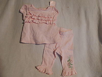 NWT 0-3 GYMBOREE PRETY PEA TOP PANTS OUTFIT SPRING - Pea Outfit