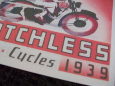 MATCHLESS MOTORCYCLE 1939 SALES BROCHURE G2 G2M G3 G80 G4 G90 G2MC G3C G90C G7