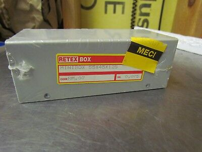 Retex Minibox Rm.07 Electronic Aluminum Project Box 125 X 45 X 55 Mm