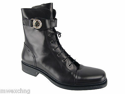 $950 AUTHENTIC CESARE PACIOTTI COMBAT FASHION BOOTS US 8 ITALIAN MENS SHOES