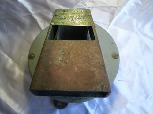 US NAVY SHIPS BELL (Edwards Electric) Type 1C/B3S4 ~ WORKS! *Ships Free 2 US!