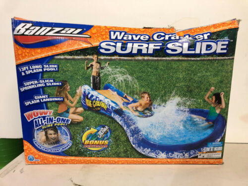 New! Banzai Wave Crasher Surf Slide SUMMER Water FUN park for kids Hard to find!