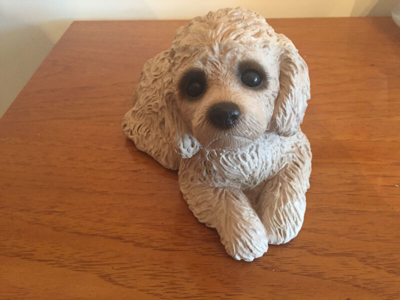 "Sandicast Dog - Poodle Puppy Large 8"" x 5"" To Benefit the ASPCA"