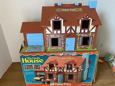 1980 Fisher Price Little People Play Family House #952 Tudor COMPLETE w/ Box +