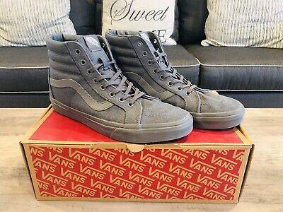 VANS SK8 HI Reissue Gray Skate Shoes Mens Size 10 Unisex Sneakers
