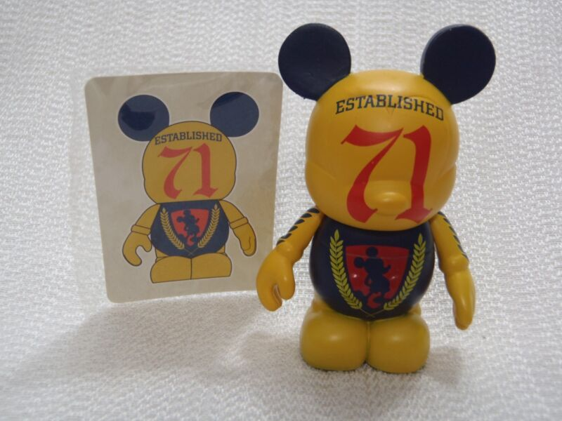 "Vinylmation Walt Disney World 40th Anniversary RETRO YELLOW 71 MICKEY 3"" Figure"