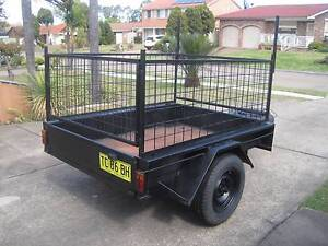 REFURBISHED REMOVABLE CAGE BOX TRAILER .. 6 x 4 .. Greenfield Park Fairfield Area Preview