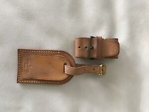 Authentic Louis Vuitton Luggage Tag and Poignet