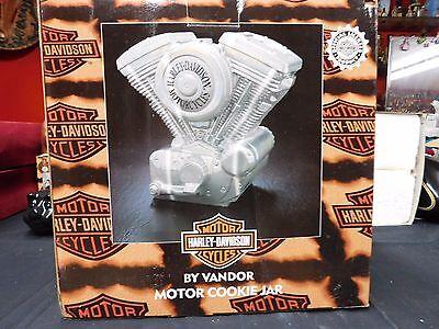 "Harley Davidson Cookie Jar Twin Engine Motor Vandor 11""  Premiere Edition for sale  Red Rock"