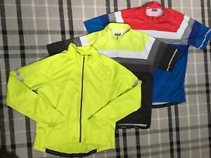 3 XL cycling jerseys - new and like new