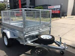 GALVANISED BOX TRAILERS WITH 2ft MESH CAGES Cardiff Lake Macquarie Area Preview