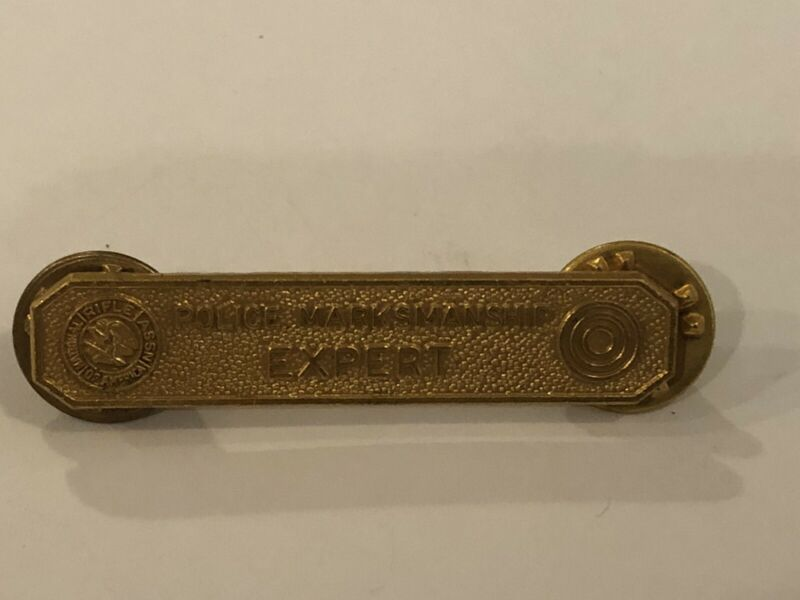 Vintage NRA Police Marksmanship Marksman Expert Pin Gold Tone