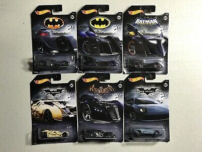 Hot Wheels 2017 DC Comics Batman Complete Set 6 Batmobile, Tumbler, Lamborghini