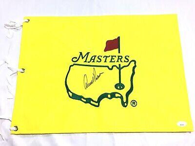 Arnold Palmer Signed Undated Masters Flag JSA LOA