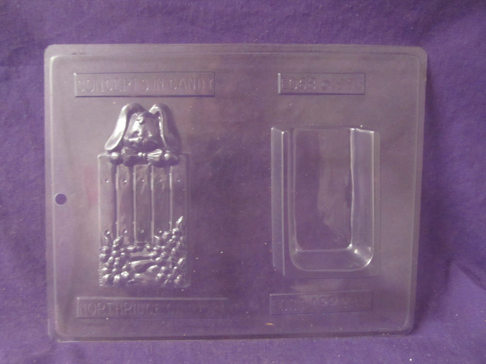 Vintage Easter Bunny Bag chocolate candy molds