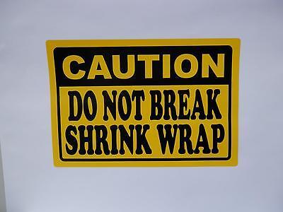 Do Not Break Shrink Wrap 5x7.375 Pallet Warning Sticker Label 50 Sheets