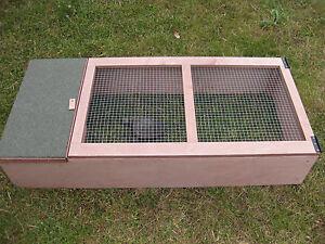 Tortoise Hedgehog Guinea Pig outdoor wooden house & run shelter fully assembled