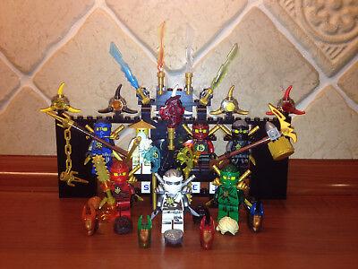 7x Lego® Ninjago™ Figuren Figur Ninja Wu Kai Jay Cole Nya Zane Lloyd NEU online kaufen